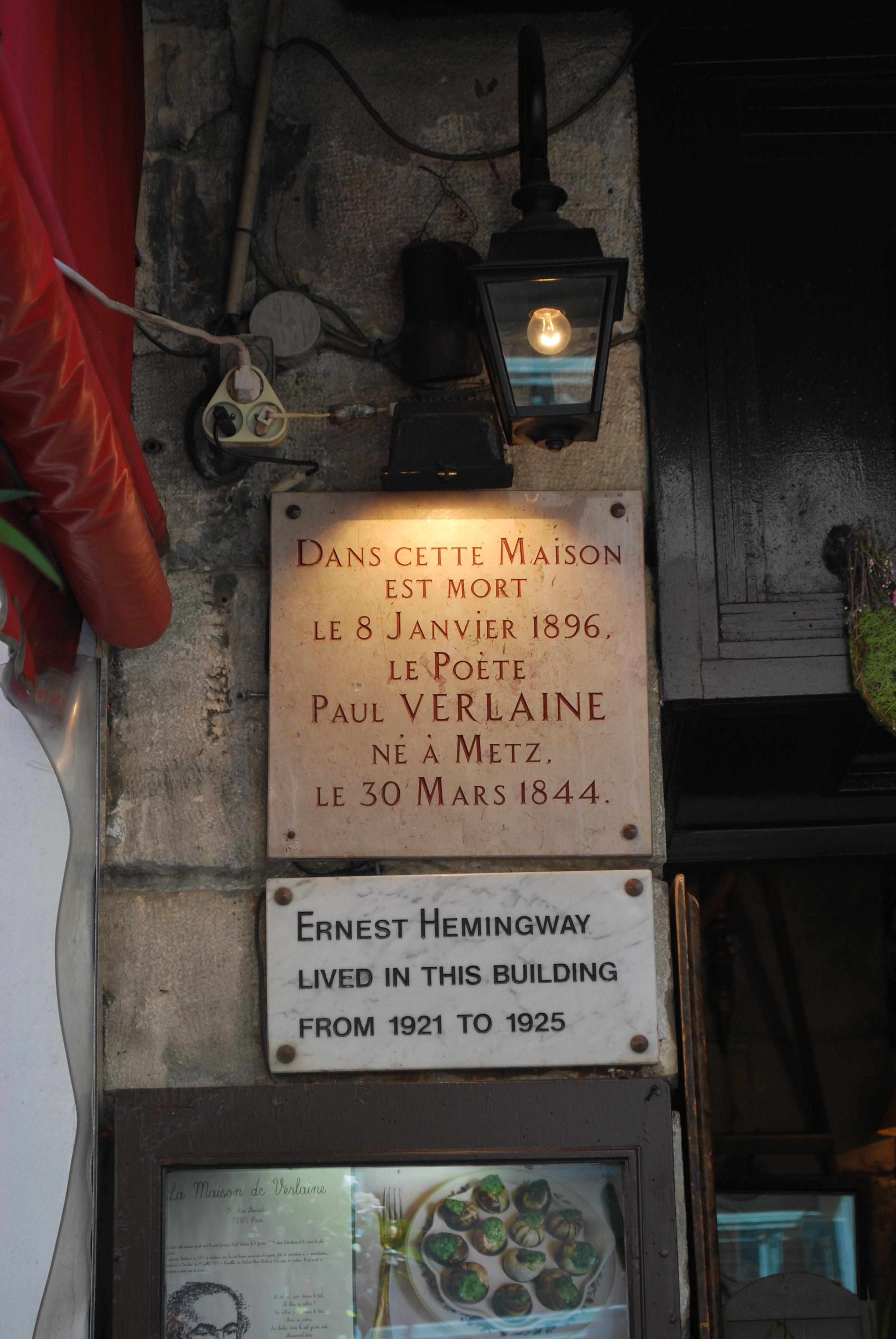 paul-verlaine-ernest-hemingway-lived-here