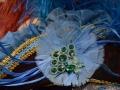 Closeup Venice Carnival costume by Sogno Veneziano Atelier, Venice, Italy.