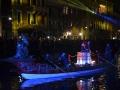Blue boat, Venice Carnival, Cannaregio Canal, Italy