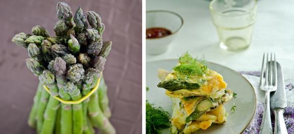 Asparagus and Asparagus Sandwich, Food Art, Meeta Khurana Wolff, The Rambling Epicure