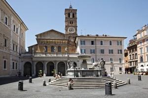 Santa Maria Trastevere Roma Italy Carlo Fontana