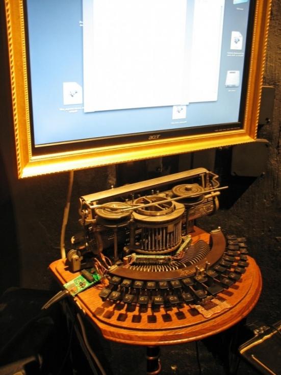 Steampunk Writer Computer Station