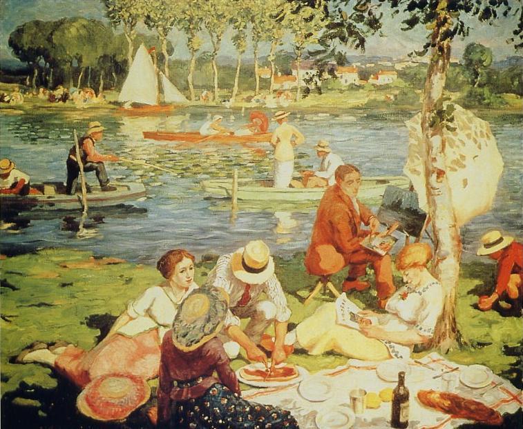 déjeuner au bord de la seine 1914 balande-gaston-01