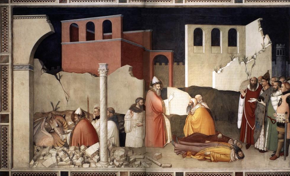 miracle of the dragon cappella di bardi di vernio santa croce florence italy