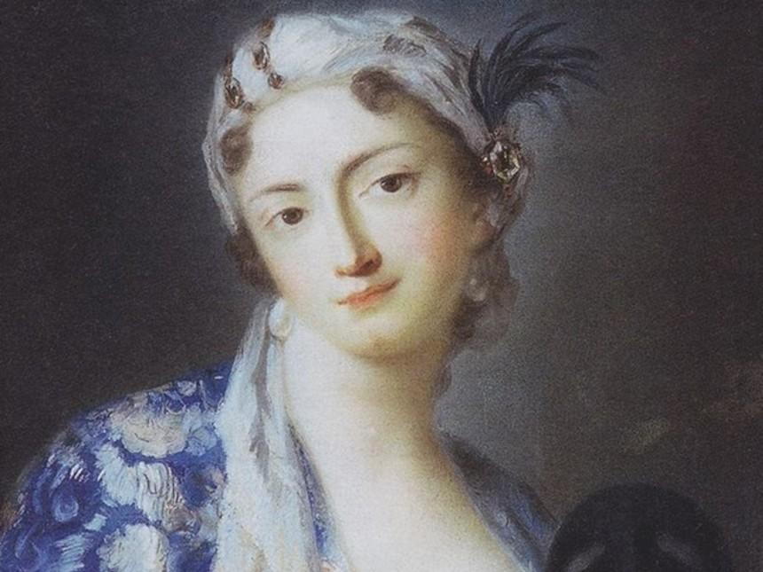 Rosalba-Carriera-Felicita-Sartori-in-costume-turco-1728-1741-circa-Galleria-degli-Uffizi-Firenze, pastel Rococo portrait painter venice venetian hours