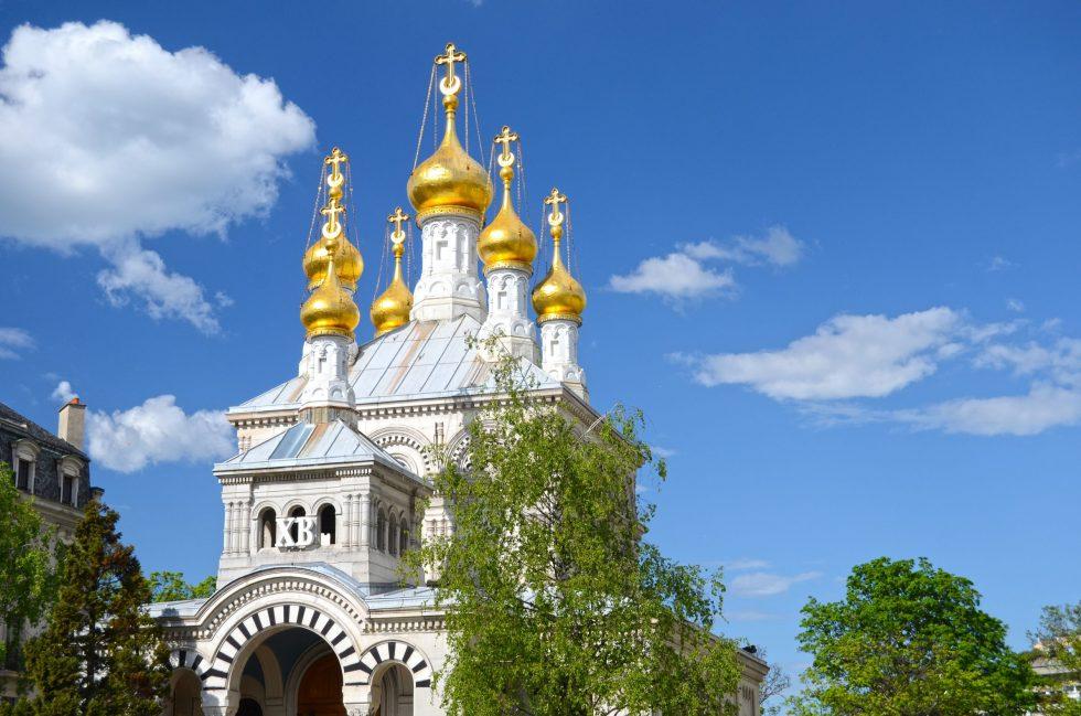Russian church. Geneva, Switzerland