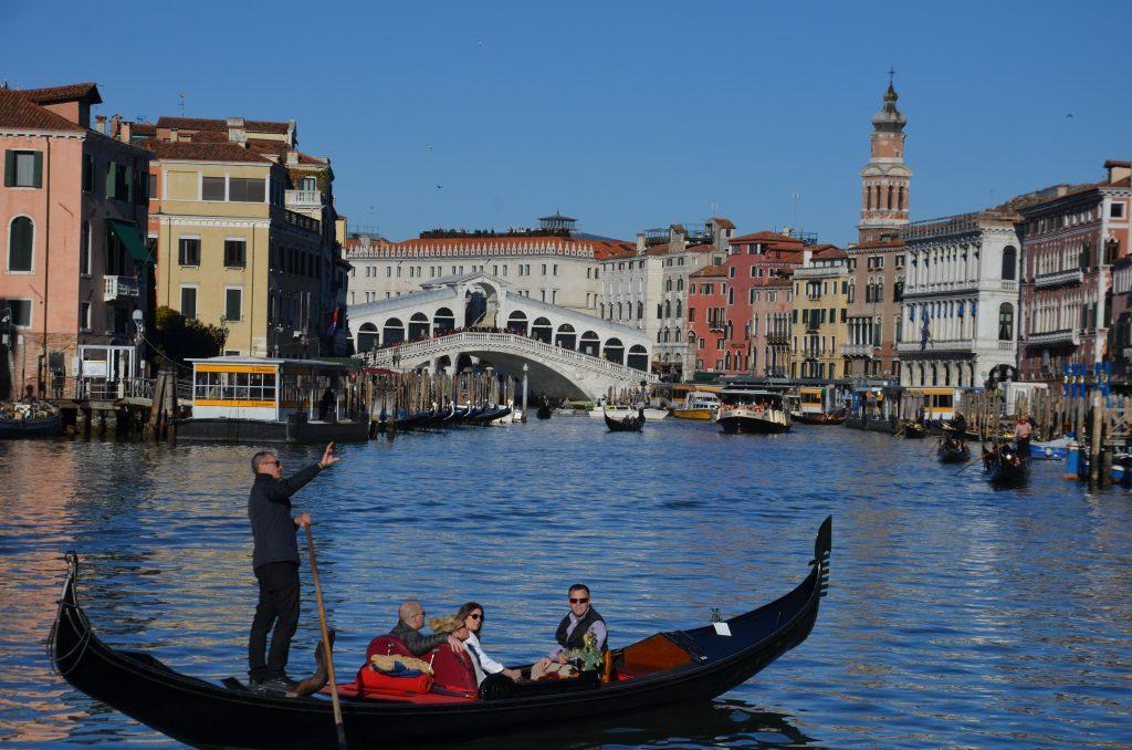 Grand Canal, Rialto Bridge, gondola