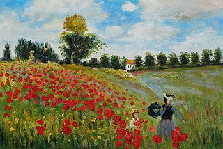 Poppy Field_in Argenteuil by Claude Monet