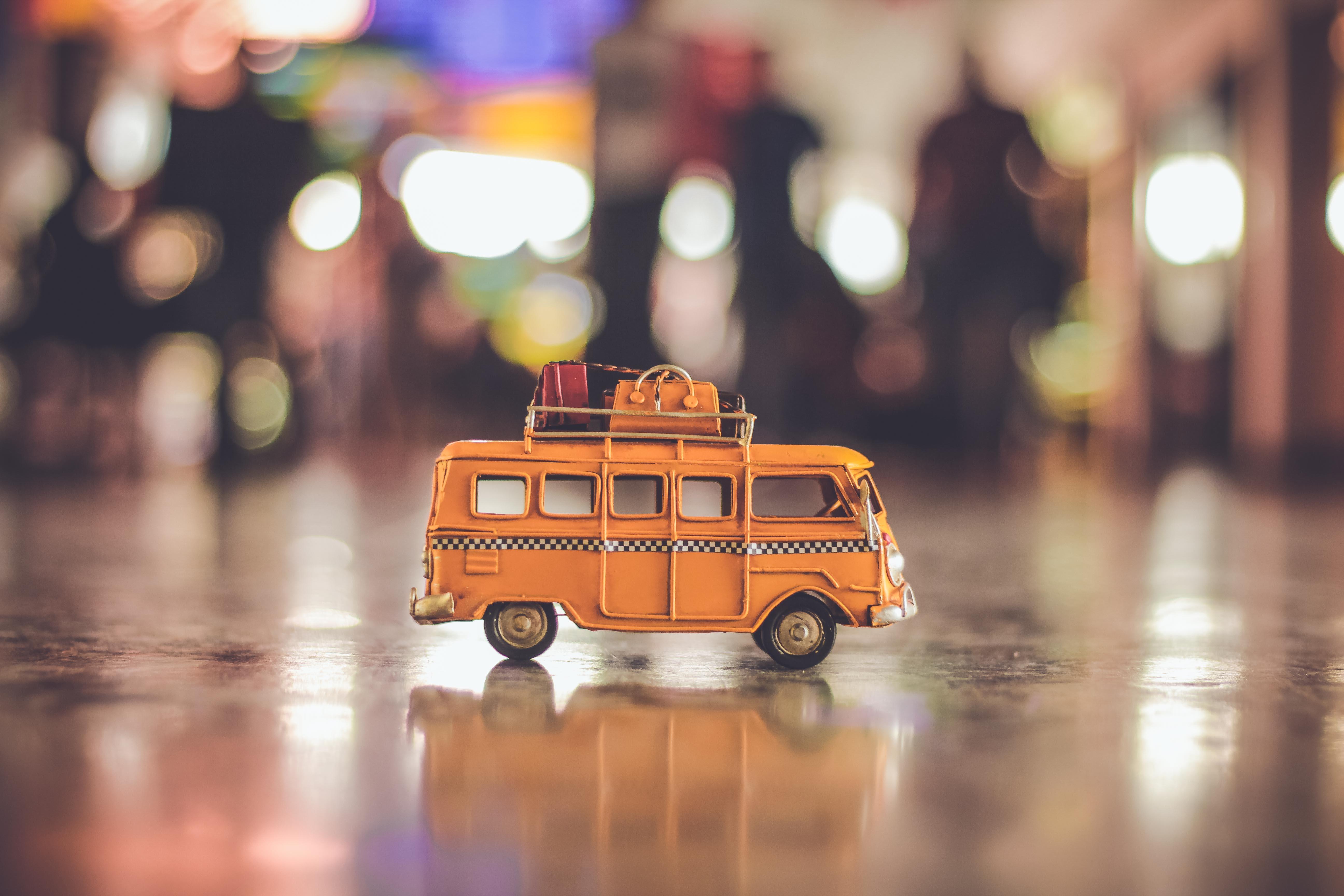 travel home van bus suitcases