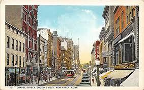 Chapel Street Postcard New Haven Connecticut Jocelyn Ruggiero