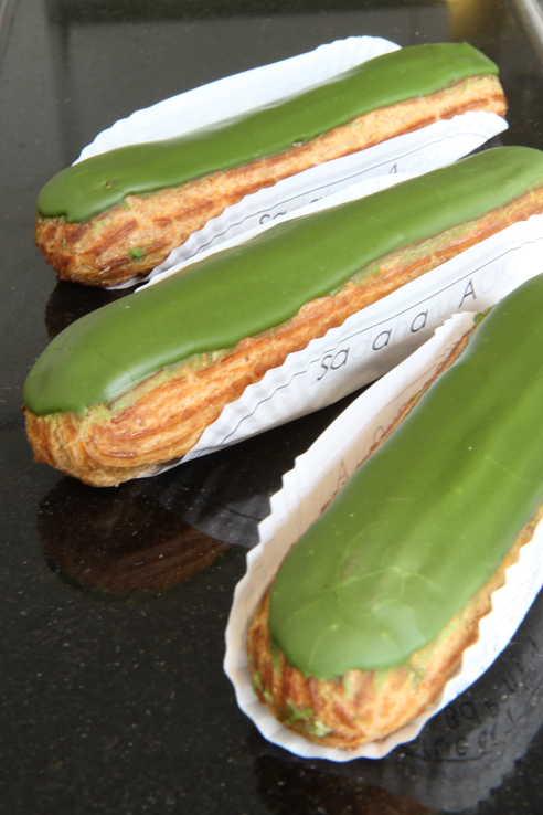 Sadaharu Aoki's green-tea eclairs ©Alison Harris